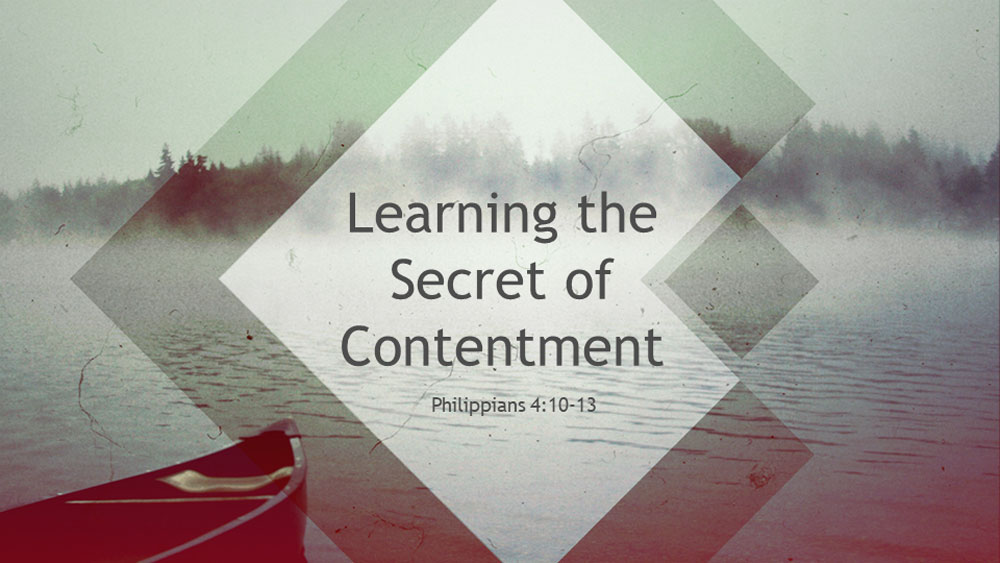 Learning The Secret To Contenment Image